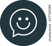 chat with smiley vector icon | Shutterstock .eps vector #617769389