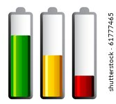 vector batteries with different ... | Shutterstock .eps vector #61777465