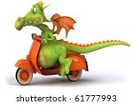 dragon and scooter | Shutterstock . vector #61777993