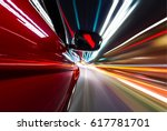 car on the road with motion... | Shutterstock . vector #617781701