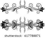 vector floral design elements   | Shutterstock .eps vector #617788871
