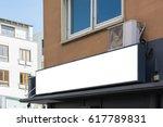 blank restaurant sign large... | Shutterstock . vector #617789831