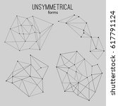 unsymmetrical forms | Shutterstock .eps vector #617791124
