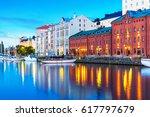 scenic summer evening panorama... | Shutterstock . vector #617797679