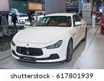 moscow september 2  maserati...   Shutterstock . vector #617801939