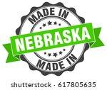 made in nebraska round seal | Shutterstock .eps vector #617805635