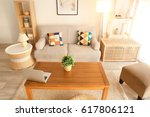 modern interior of living room | Shutterstock . vector #617806121