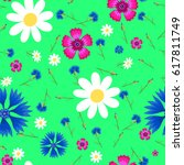 Seamless Pattern With  Small ...
