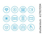 finance icons. finance icons...   Shutterstock . vector #617819204
