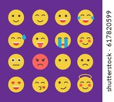 emoticon set. emoticon icons in ... | Shutterstock . vector #617820599