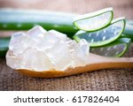 aloe vera on a  background. | Shutterstock . vector #617826404