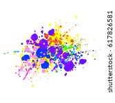 abstract splashes and drops of...   Shutterstock .eps vector #617826581