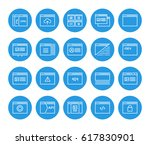 set of 48x48 minimal browser ... | Shutterstock .eps vector #617830901