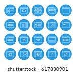 set of 48x48 minimal browser ... | Shutterstock .eps vector #617830901