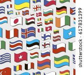 set of world flags pattern.  | Shutterstock . vector #617831399