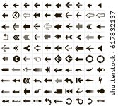 set of 100 vector icons of a... | Shutterstock .eps vector #617832137