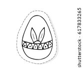 hand drawn doodle easter... | Shutterstock .eps vector #617833265