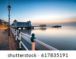 just before dawn at penarth... | Shutterstock . vector #617835191
