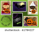 baby's postage marks and stamps ... | Shutterstock .eps vector #61784227