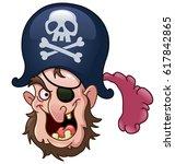 vector pirate head | Shutterstock .eps vector #617842865