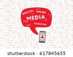 mobile and online marketing... | Shutterstock .eps vector #617845655