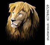 lion low poly design. triangle... | Shutterstock .eps vector #617846729