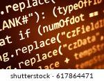 software developer programming...   Shutterstock . vector #617864471