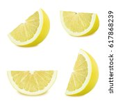 set of pomelo isolated on a... | Shutterstock . vector #617868239