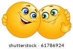 hugging emoticons | Shutterstock .eps vector #61786924