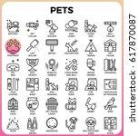 pets concept detailed line...