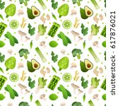 vector seamless pattern with... | Shutterstock .eps vector #617876021