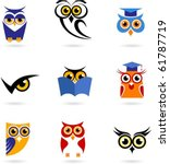 owl icons set | Shutterstock .eps vector #61787719