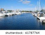 the yachts scene in port | Shutterstock . vector #61787764