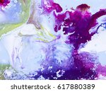 abstract bright hand painted... | Shutterstock . vector #617880389