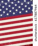 grunge united states of america ... | Shutterstock .eps vector #617887964
