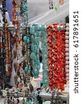 Small photo of beautiful jewelry goods for decoration and beautify bracelets and earrings, necklaces and rings