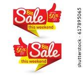 big sale price offer deal... | Shutterstock .eps vector #617895065