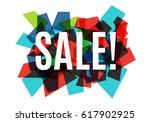 sale banner template design ... | Shutterstock .eps vector #617902925