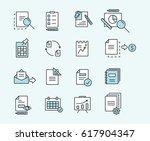 set of icons linear design... | Shutterstock .eps vector #617904347