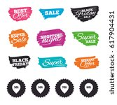 ink brush sale banners and... | Shutterstock .eps vector #617904431
