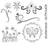 vector of flower calligraphic...   Shutterstock .eps vector #617911655