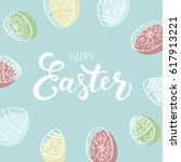 easter card design with modern... | Shutterstock .eps vector #617913221