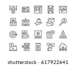 digital marketing. set of... | Shutterstock .eps vector #617922641