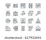 digital marketing. set of... | Shutterstock .eps vector #617922641