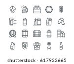 beer. set of outline vector... | Shutterstock .eps vector #617922665
