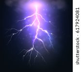 flash of lightning with shine....   Shutterstock .eps vector #617924081