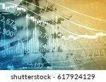 forex market background ... | Shutterstock . vector #617924129