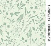 seamless vector pattern of... | Shutterstock .eps vector #617928341