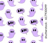 pattern of ghost. | Shutterstock .eps vector #617930099