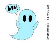 ghost. | Shutterstock .eps vector #617930135